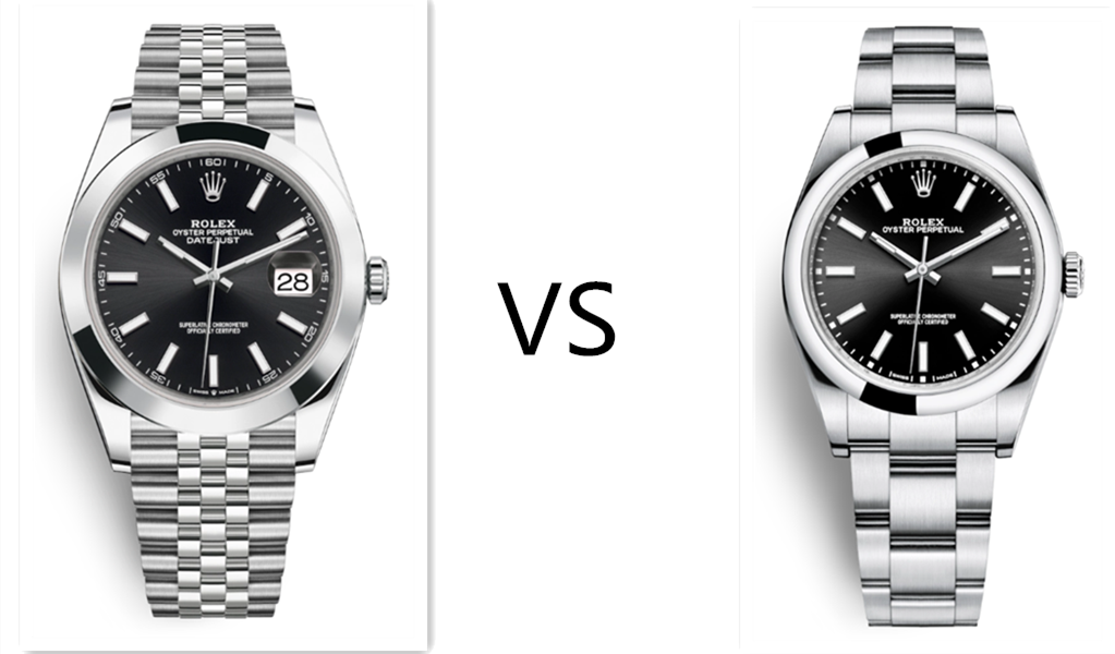 Oyster Perpetual 39mm VS replica Rolex Datejust 41mm