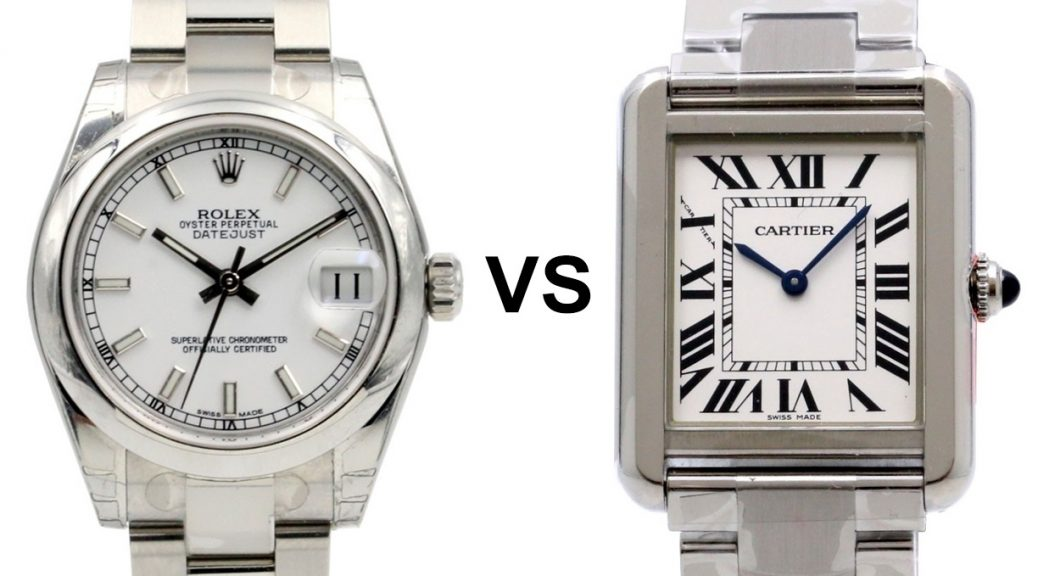 Replica Respectable Watches Rolex VS Cartier
