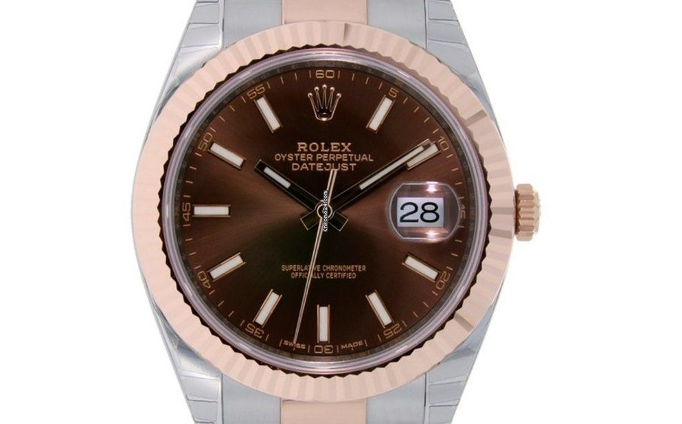 Swiss fake Rolex Datejust 126331 with chocolate dial