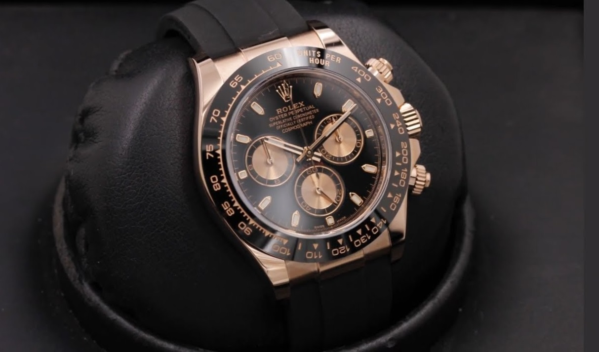 Swiss fake Rolex Daytona 116515LN with chocolate dial