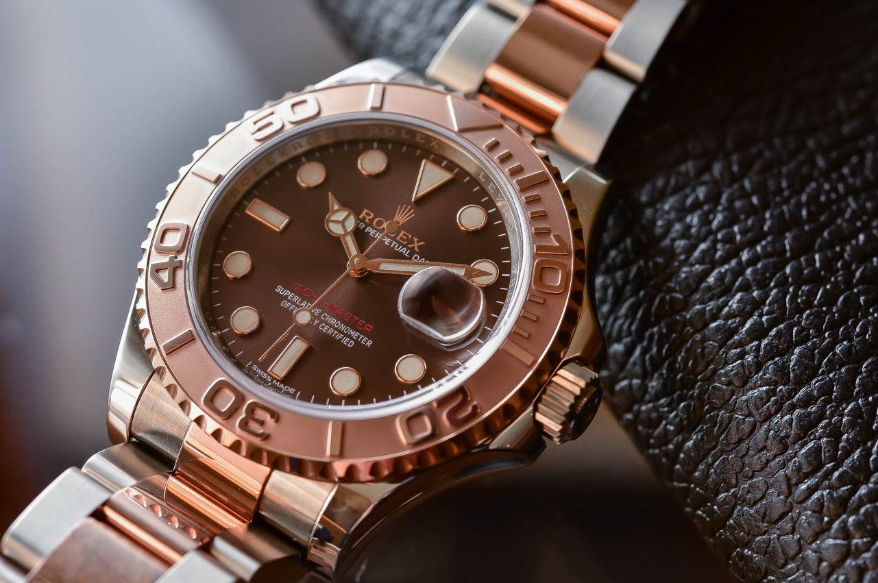 Swiss fake Rolex Yacht-Master 116621 with chocolate dial