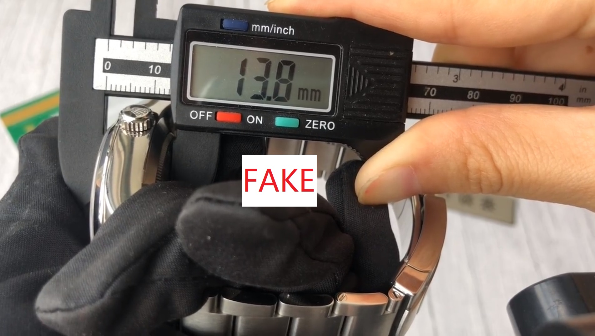 Case Size Of fake Rolex Air King 116900