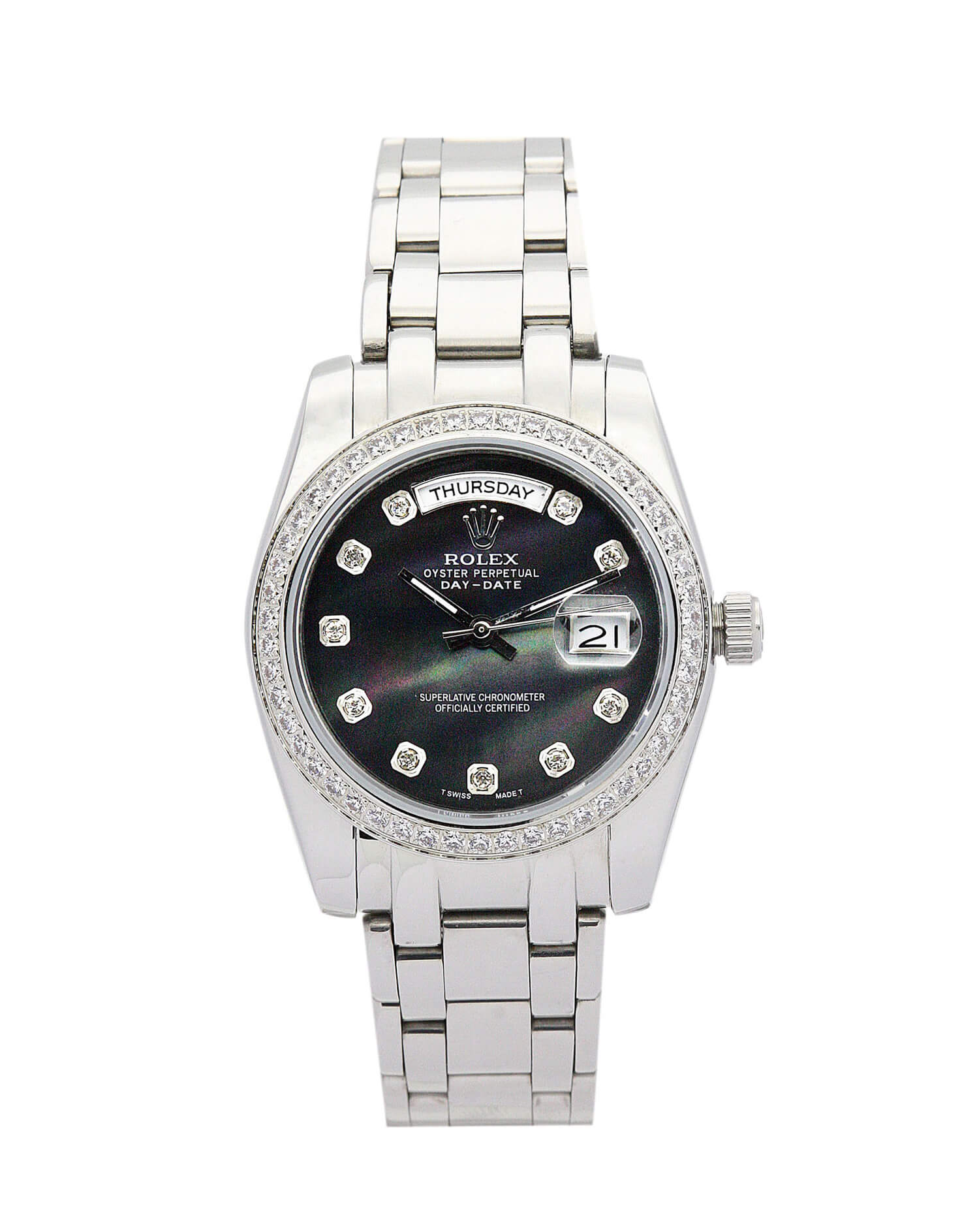 Fake Rolex Day-Date 118346 Black Dial